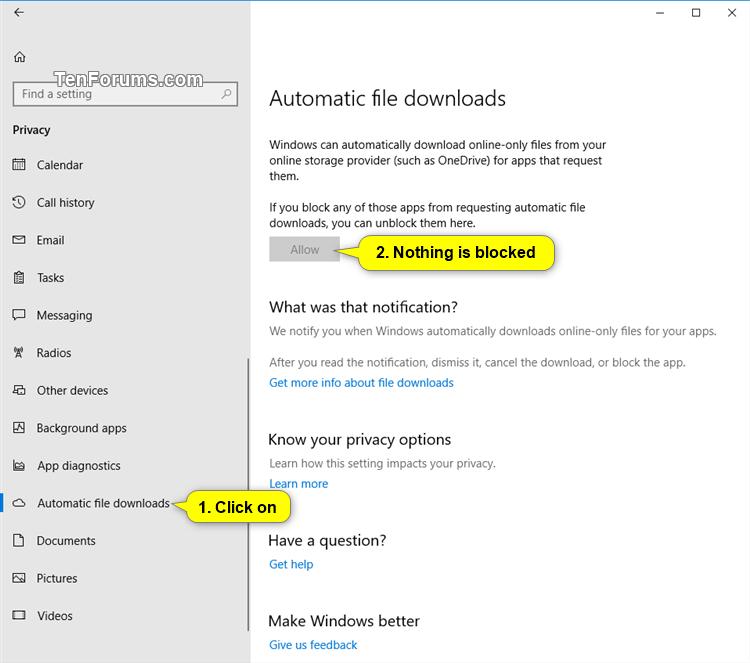 background downloads in windows 10