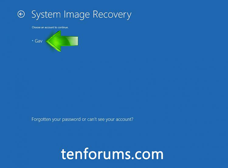 Troubleshoot Windows 10 failure to boot using Recovery Environment-choose-account-continue.jpg