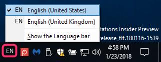 Turn On or Off Language Bar and Input Indicator in Windows 10-language_bar_docked_in_taskbar-1.png