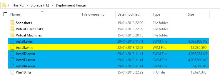 DISM - Split install wim file | Tutorials