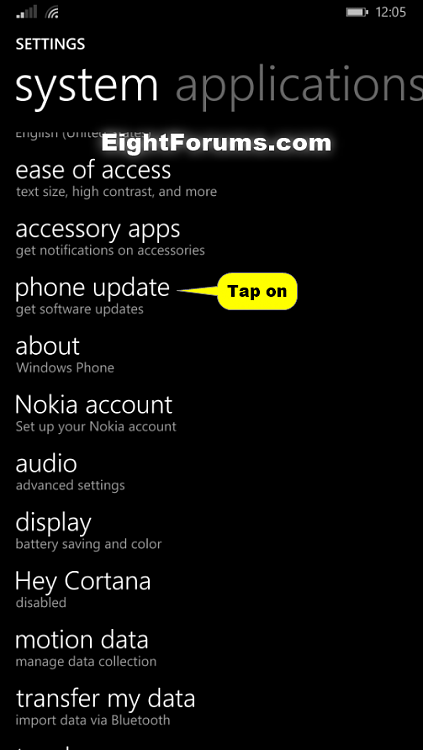 Windows 10 Mobile Insider Preview for Phones - Update to-windows_phone_8_check_for_software_update-2.png