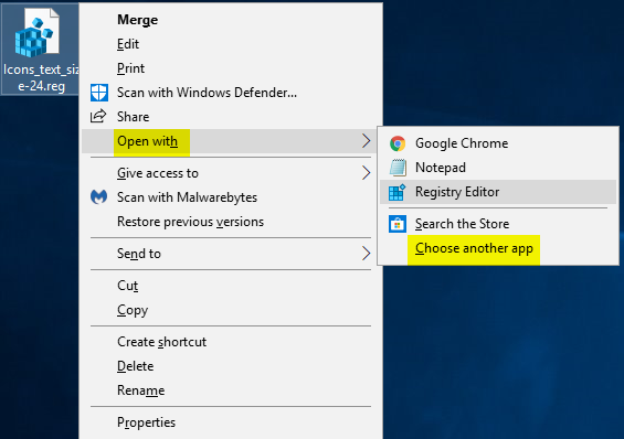 Change Icons Text Size in Windows 10 - Page 12 - | Tutorials