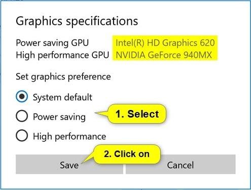 Set Preferred GPU for Apps in Windows 10 | Tutorials
