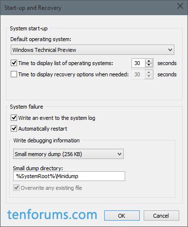 Configure Windows 10 to Create Minidump on BSOD | Tutorials