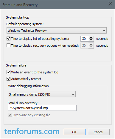 Configure Windows 10 to Create Minidump on BSOD-small-memory-dump-save-location.png