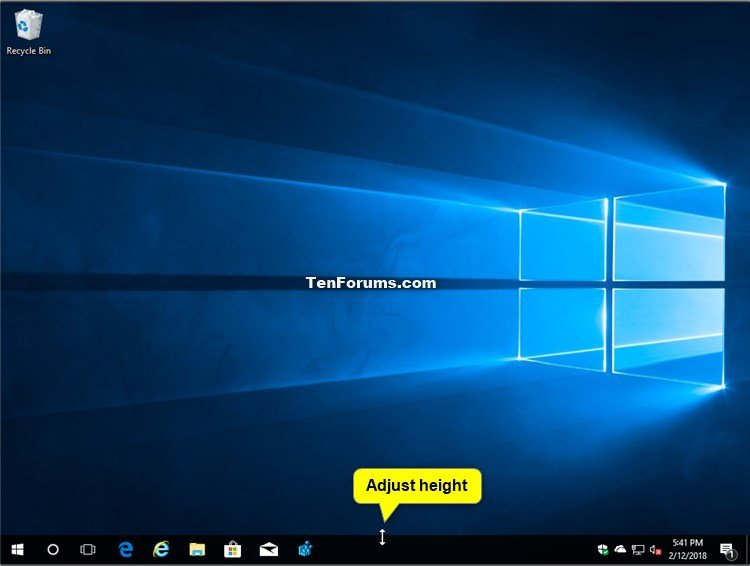 Change Height or Width Size of Taskbar in Windows 10 | Tutorials