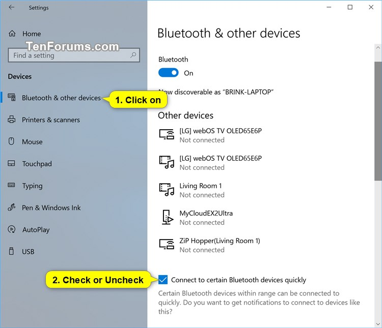 Turn On/Off Streamlined Pairing to Bluetooth Peripherals in Windows 10-connect_to_certain_bluetooth_devices_quickly.jpg