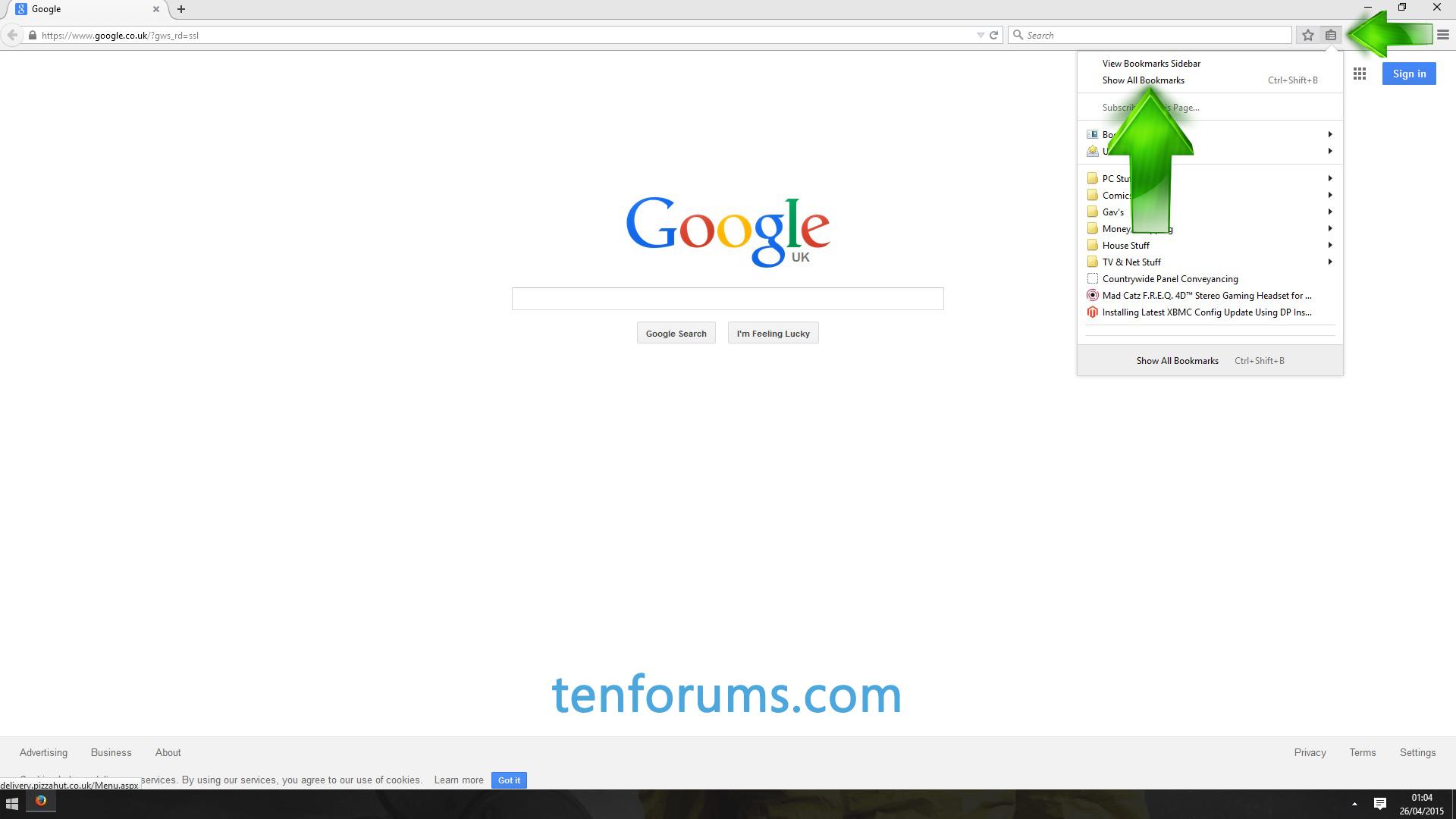 D Firefox Import Export