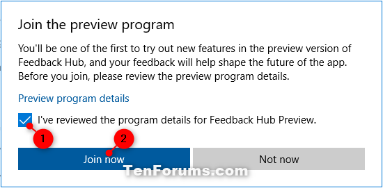 Join or Leave Windows App Preview Program for Apps in