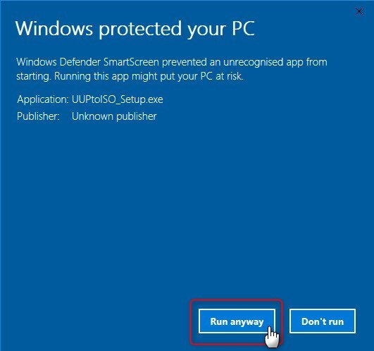 UUP to ISO - Create Bootable ISO from Windows 10 Build Upgrade Files