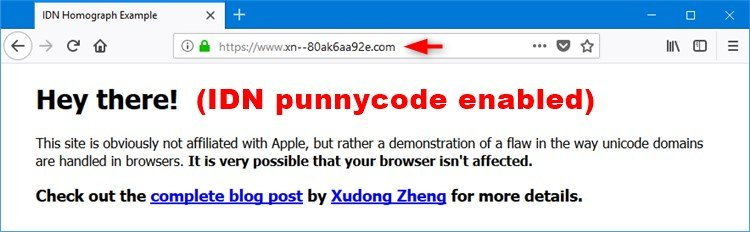 Enable or Disable IDN Punycode in Firefox Address Bar in