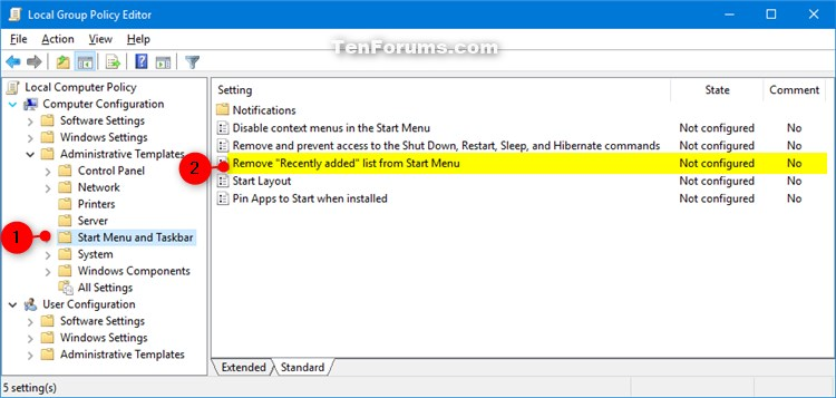Enable or Disable Recently Added apps on Start Menu in Windows 10-recently_added_apps_list_in_start_menu_gpedit-1.jpg