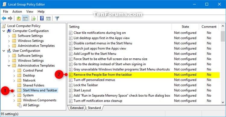 remove file explorer from taskbar windows 10 gpo