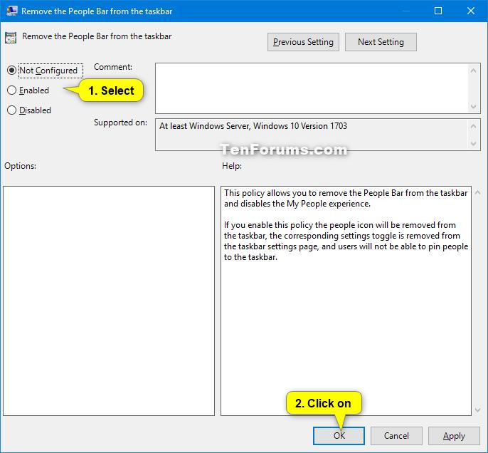 Enable or Disable People Bar on Taskbar in Windows 10   Tutorials