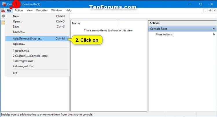 Create Custom MSC in Microsoft Management Console in Windows