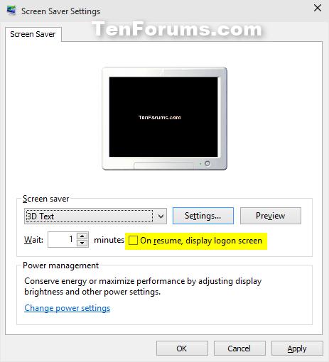 Change Screen Saver Settings in Windows 10 | Windows 10 Tutorials