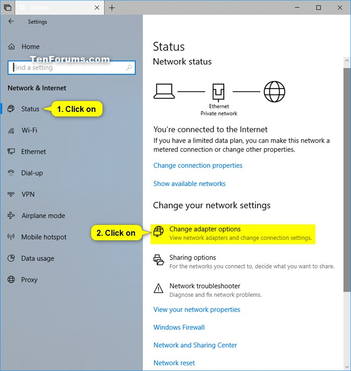 Enable or Disable Network Adapters in Windows | Tutorials