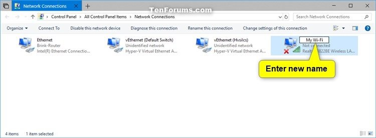 Rename Network Adapter in Windows | Tutorials