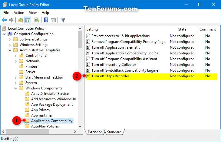 Enable or Disable Steps Recorder in Windows | Tutorials
