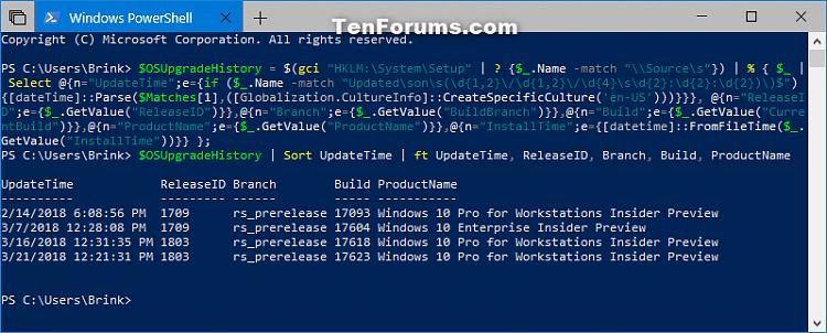 View Windows Upgrade History in Windows 10-windows_upgrade_history_powershell.png