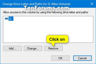 Remove Drive Letter in Windows 10 | Tutorials