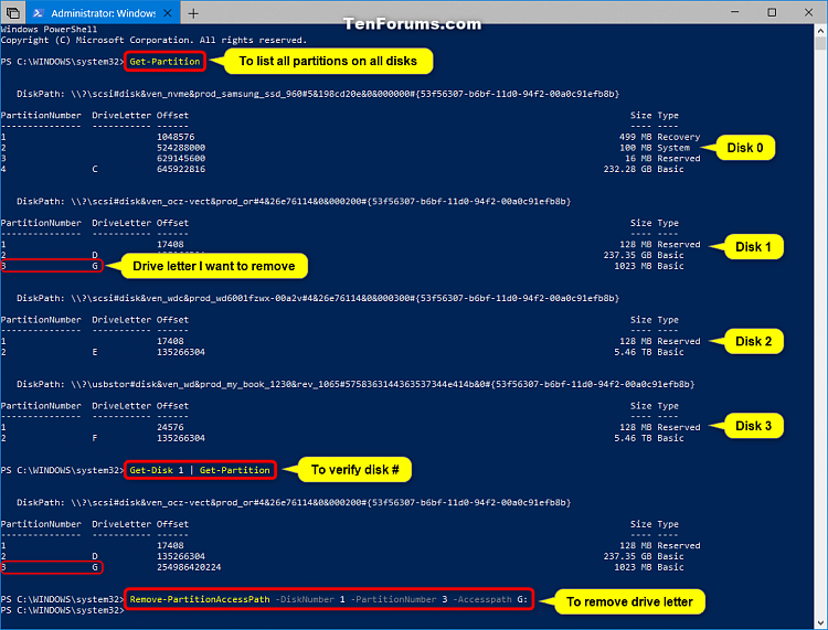 Click image for larger version.  Name:Remove_drive_letter_in_PowerShell.png Views:874 Size:97.1 KB ID:182734