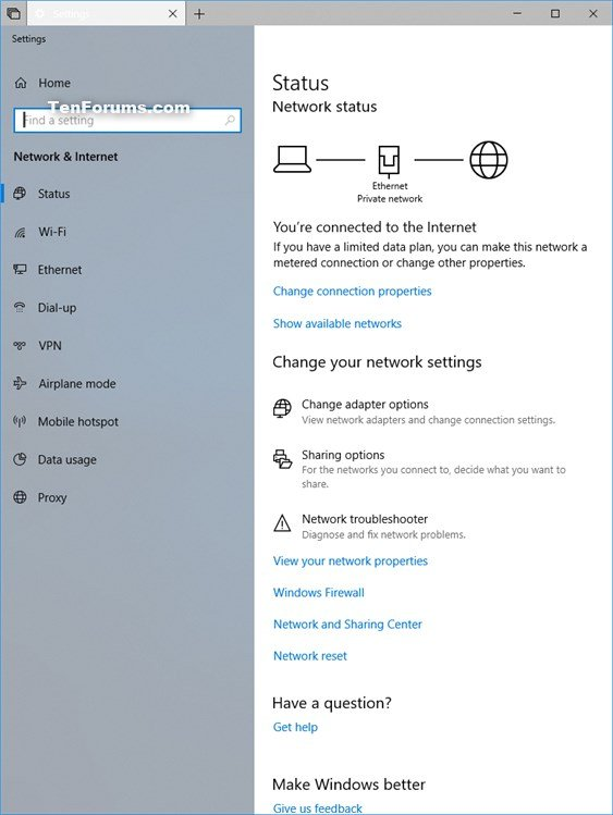 Create Network Connections Shortcut in Windows 10 | Tutorials