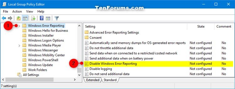 Enable or Disable Windows Error Reporting in Windows 10-windows_error_reporting_gpedit-1.jpg