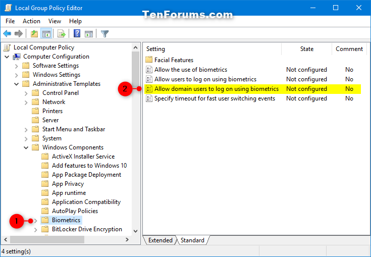 Enable or Disable Domain Users Sign in to Windows 10 using