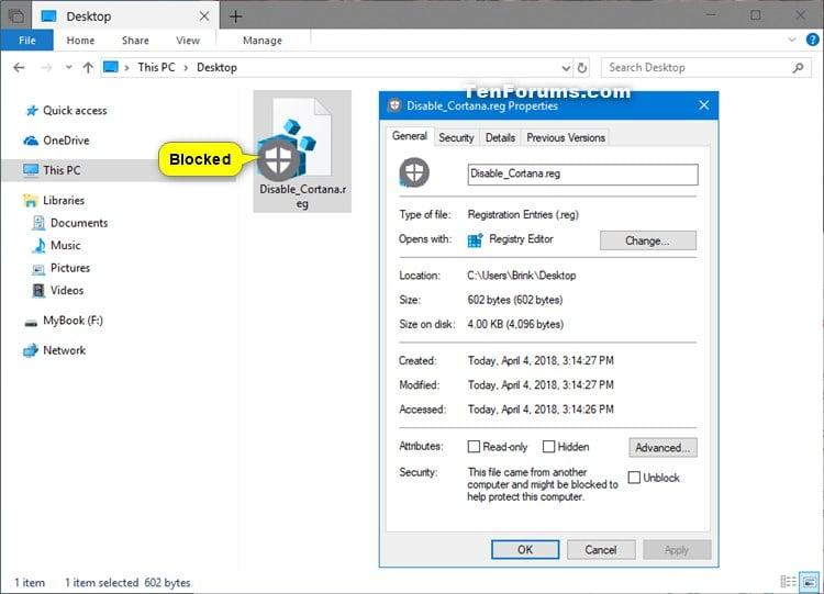 Unblock File in Windows 10 | Tutorials