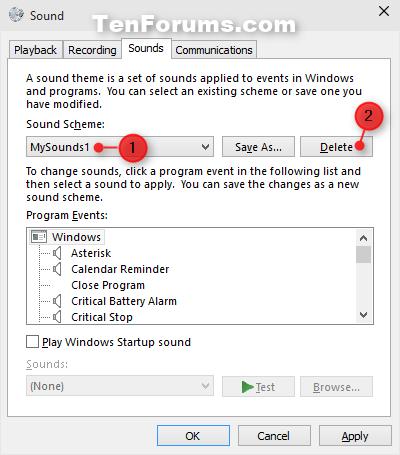 Change Event Sounds and Sound Scheme in Windows 10   Tutorials
