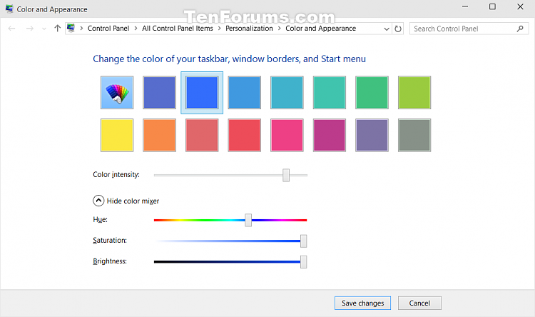 Create Color and Appearance shortcut in Windows 10-color_and_appearance.png