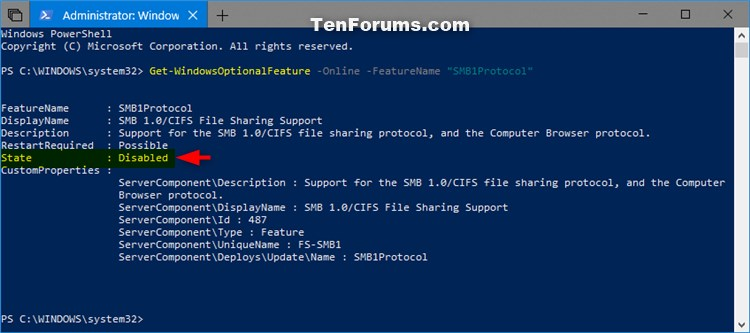 Enable or Disable SMB1 File Sharing Protocol in Windows-smb1_powershell-2.jpg