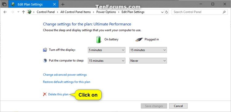 Add or Remove Ultimate Performance Power Plan in Windows 10 | Tutorials