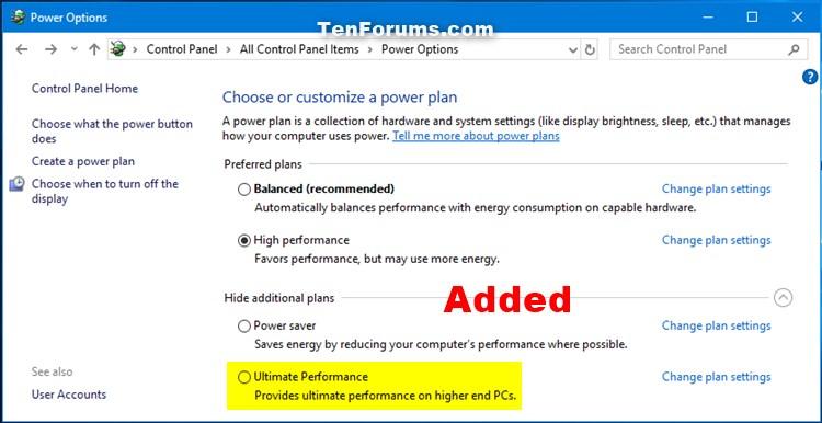 Name:  Ultimate_Performance_power_plan_added.jpg Views: 33136 Size:  66.3 KB