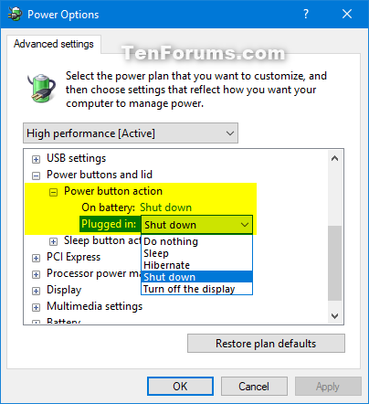 Add or Remove Power button action from Power Options in Windows-power_button_action_in_power_options.png