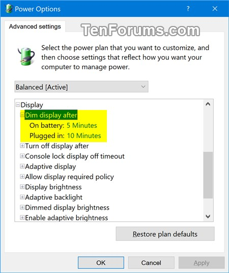 Add or Remove Dim display after from Power Options in Windows-dim_display_after.jpg