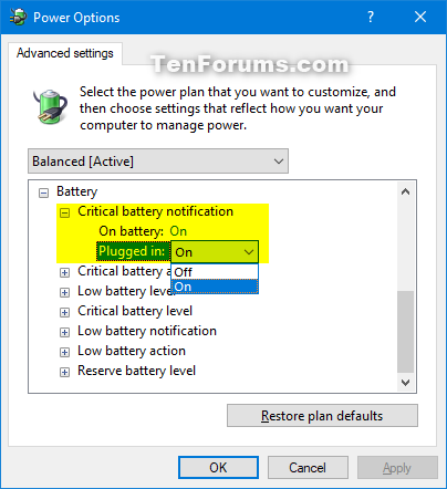 Remove Critical battery notification from Power Options in Windows 10-critical_battery_notification.png