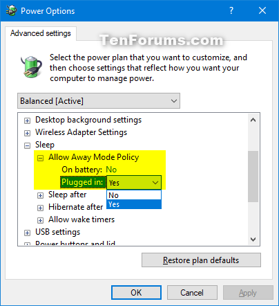 Add or Remove Allow Away Mode Policy from Power Options in Windows-allow_away_mode_policy.png