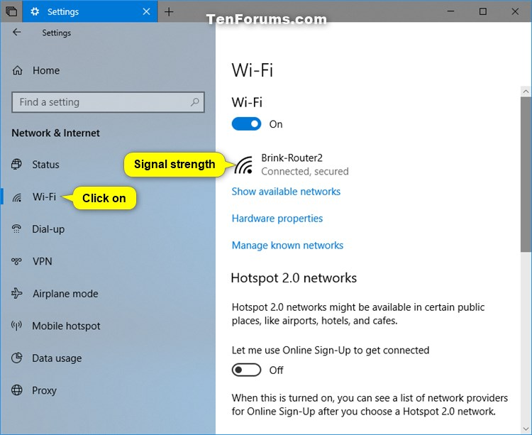 View Wireless Network Signal Strength in Windows 10-wi-fi_signal_strength_in_settings.jpg