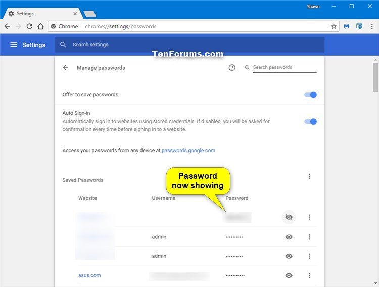 Manage Saved Passwords in Google Chrome for Windows | Tutorials