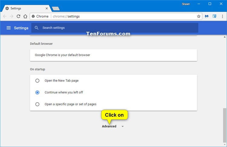 Turn On Or Off Page Prediction In Google Chrome For