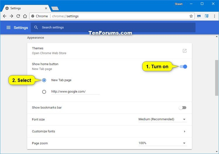 Change Homepage in Google Chrome for Windows | Tutorials