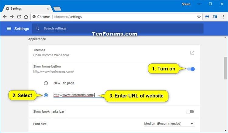 Change Homepage in Google Chrome for Windows   Tutorials