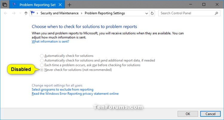 Enable or Disable Windows Error Reporting in Windows 10-windows_error_problem_reporting_settings_disabled.jpg
