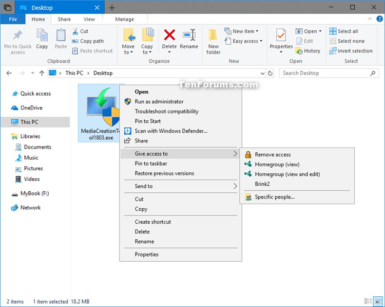 Give access to Context Menu - Add or Remove in Windows 10-homegroup.jpg