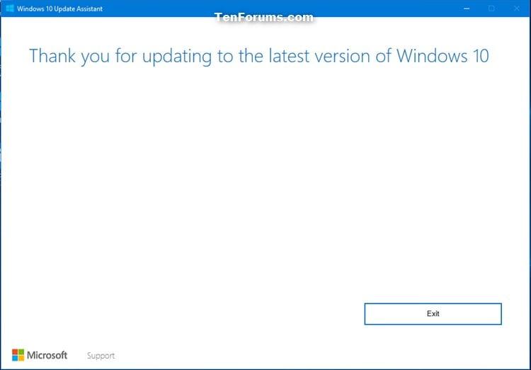 Update to Latest Version of Windows 10 using Update
