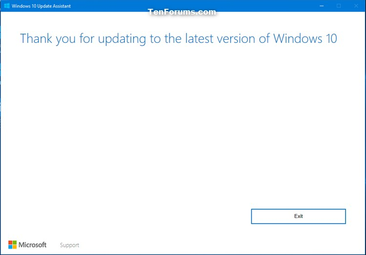 Update to Latest Version of Windows 10 using Update Assistant-thank_you.jpg