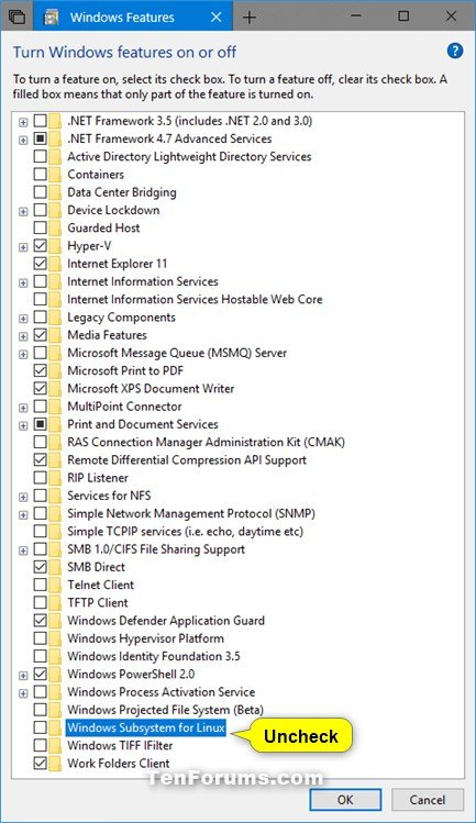 Enable or Disable Windows Subsystem for Linux WSL in Windows 10-disable_windows_subsystem_for_linux.jpg