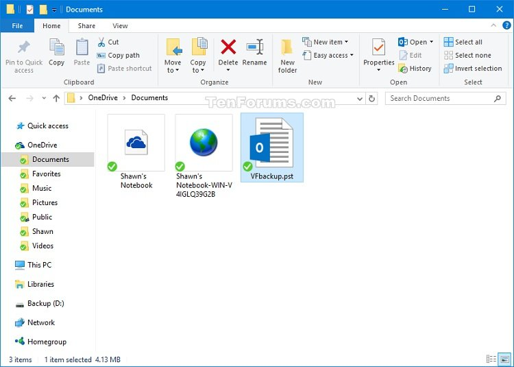 Export Outlook 2016 Email, Contacts, and Calendar to PST file